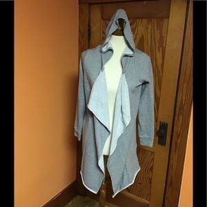 Juicy Couture soft cozy grey metallic comfy hoodie